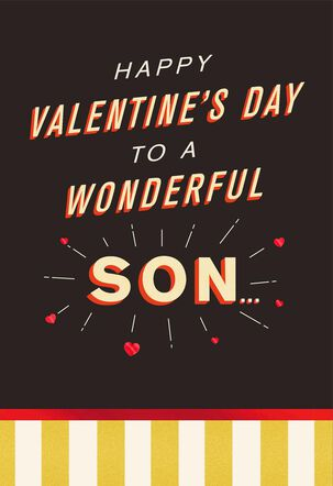 Big Heart Day Card for Son