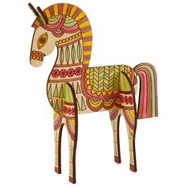 Horse Coloring Wooden Art Kit, , large