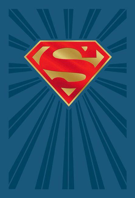 Dc Comics Superman Shield Logo Birthday Card Greeting Cards