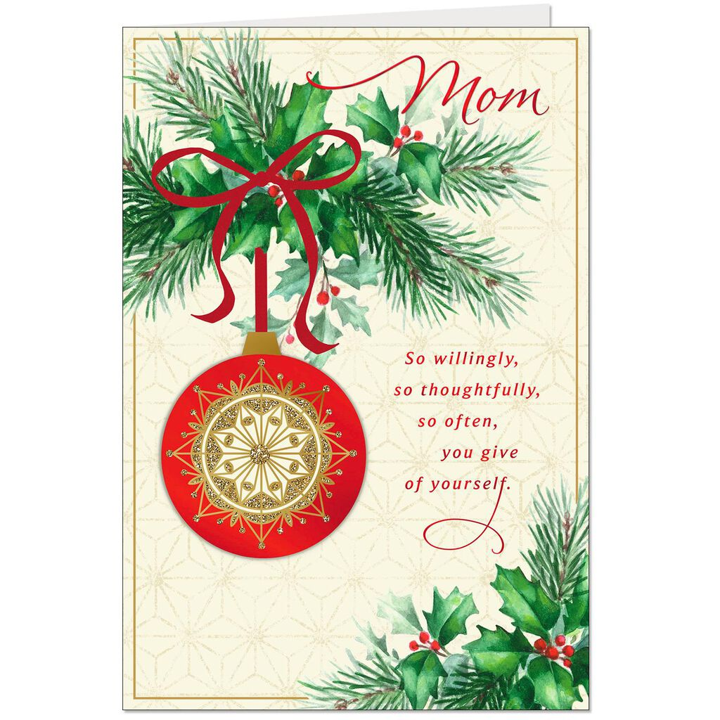 You Make a Difference in My Life Christmas Card for Mom - Greeting ...