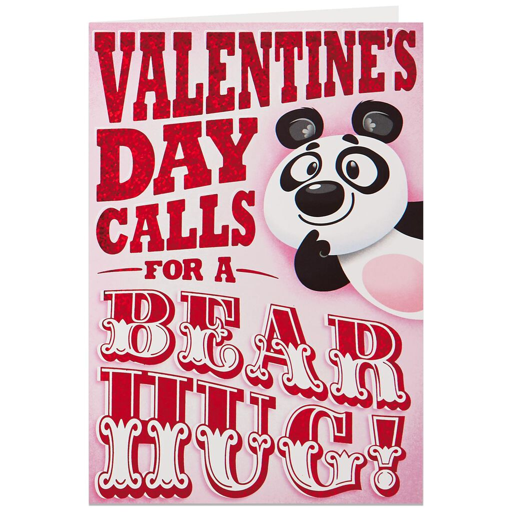 Panda Bear Hug Musical Valentines Day Card Greeting Cards Hallmark