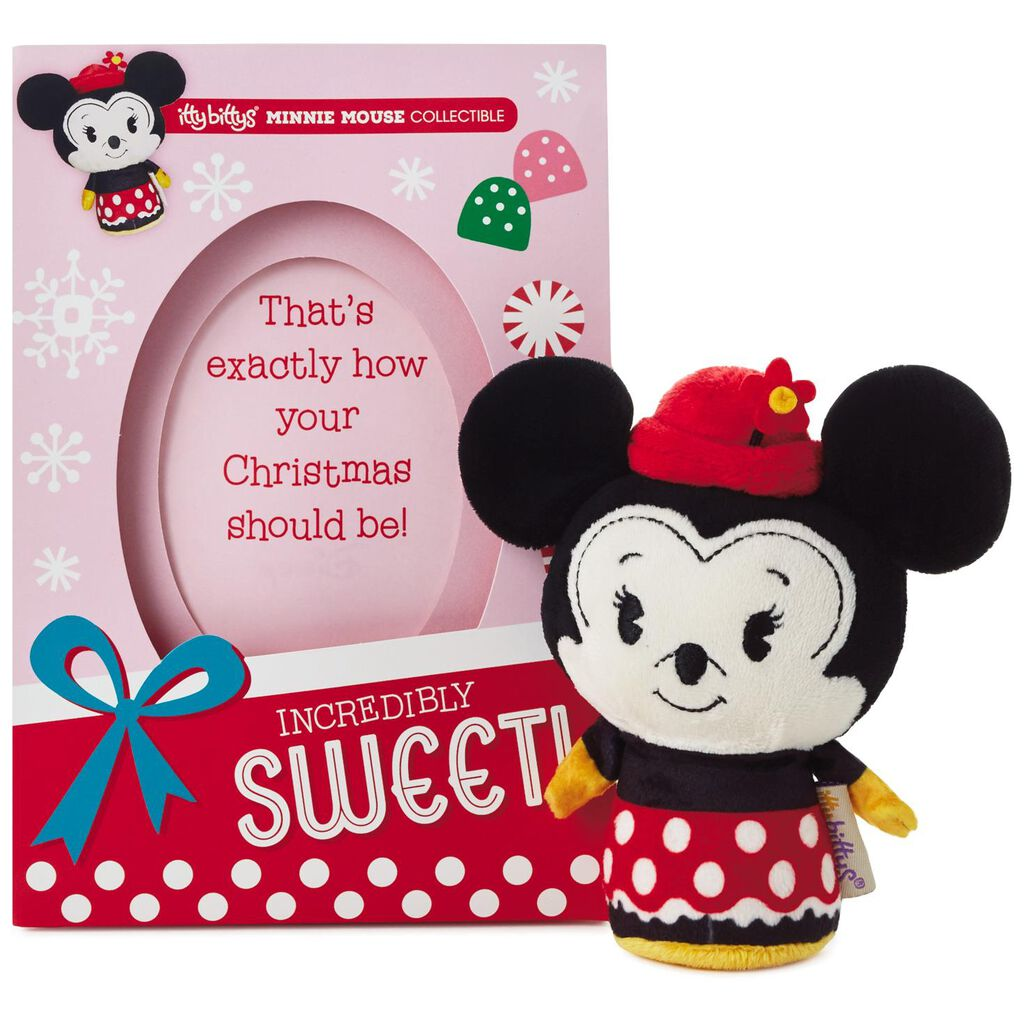 Itty Bittys Minnie Mouse Christmas Card With Stuffed Animal