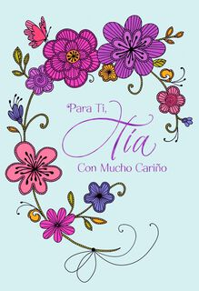 A Loving Aunt Spanish-Language Mother's Day Card,