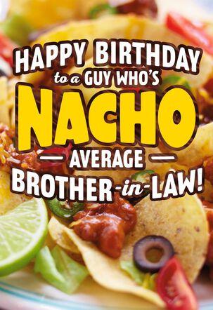Queso Pop-Up Birthday Card for Brother-in-Law