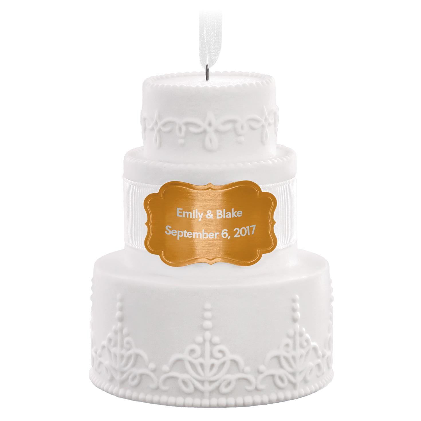 Wedding Cake Personalized Ornament - Personalized Ornaments - Hallmark