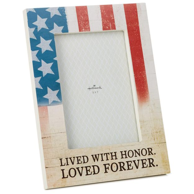 lived with honor military picture frame 5x7 - Military Frames