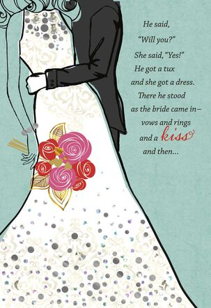 Love-Filled Blessings Religious Wedding Card