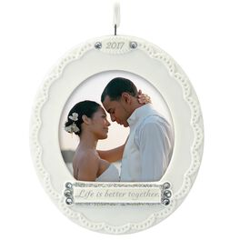 Life Is Better Together 2017 Photo Holder Ornament, , large