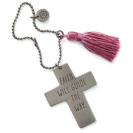 Faith Will Guide the Way Cross Car Mirror Charm, , large