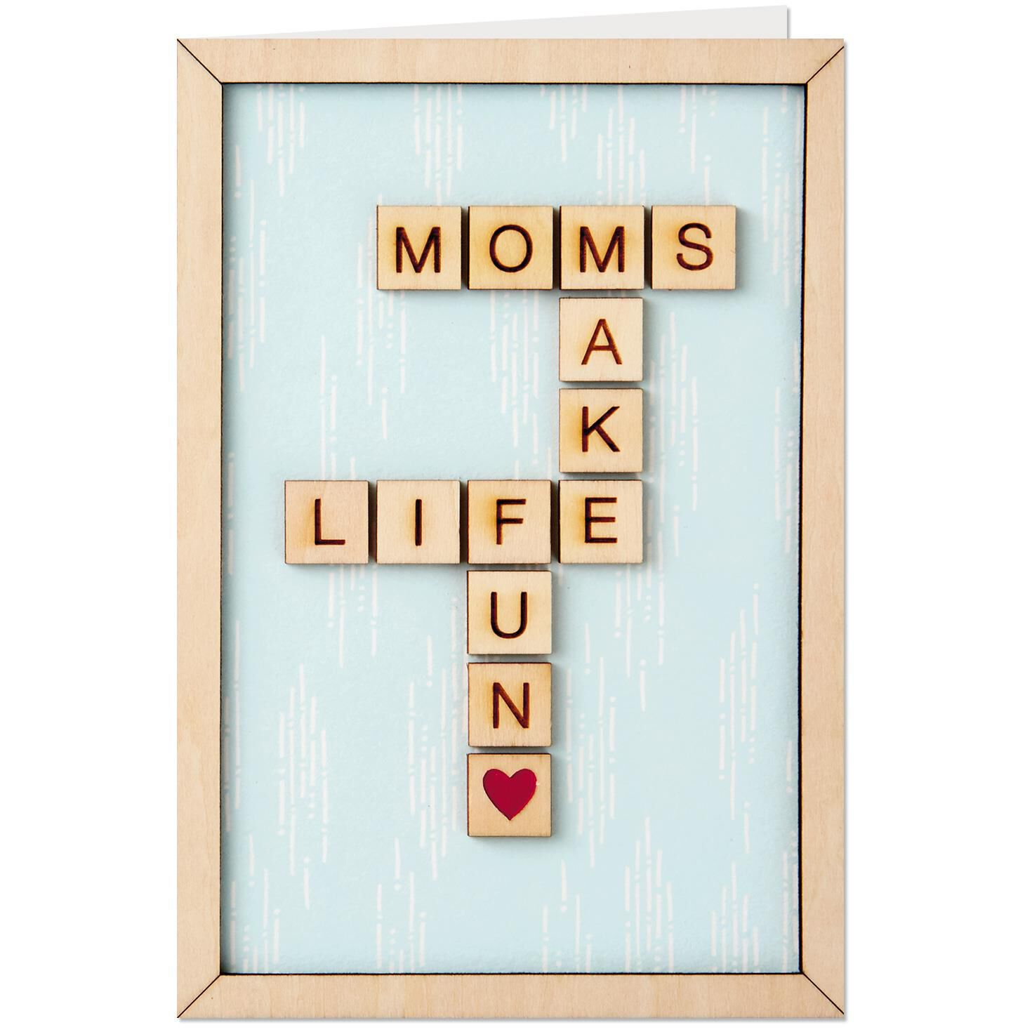 Wood Crossword Mothers Day Card Greeting Cards Hallmark