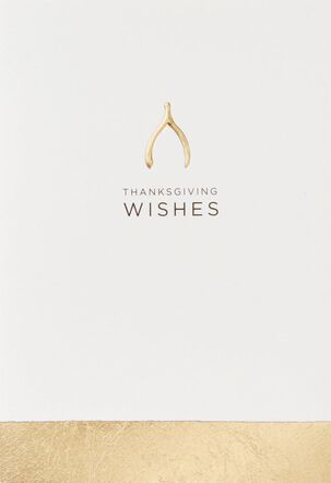Wonderful Wishes Thanksgiving Card