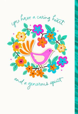 Caring Heart Generous Spirit Thank You Card