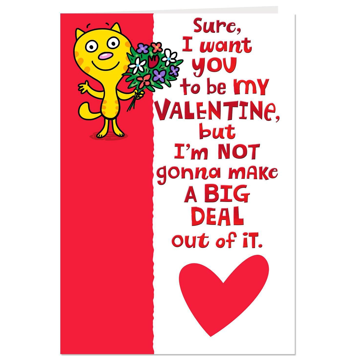 Be My Valentine Funny Valentineu0027s Day Card   Greeting Cards   Hallmark    Hallmark Valentineu0027s Day