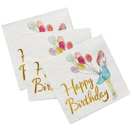 Happy Birthday Cocktail Napkins, Pack of 16, , large