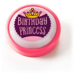 Birthday Princess Mini Sound Button with Light, , large