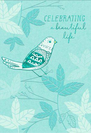 Bird on a Branch Sympathy Card