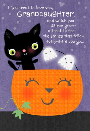 You're a Treat to Love Halloween Card for Granddaughter