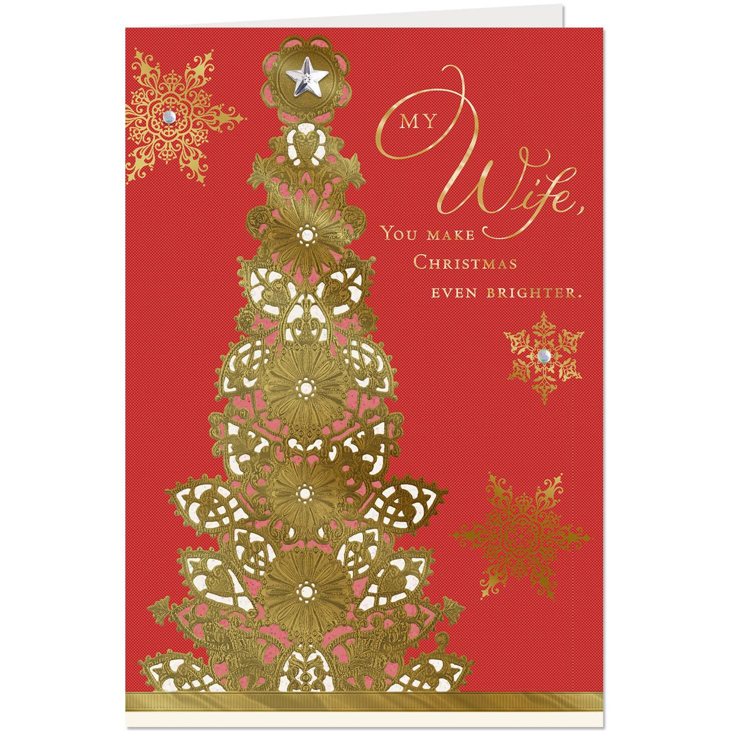 The blessings you bring to my life christmas card for wife the blessings you bring to my life christmas card for wife greeting cards hallmark m4hsunfo