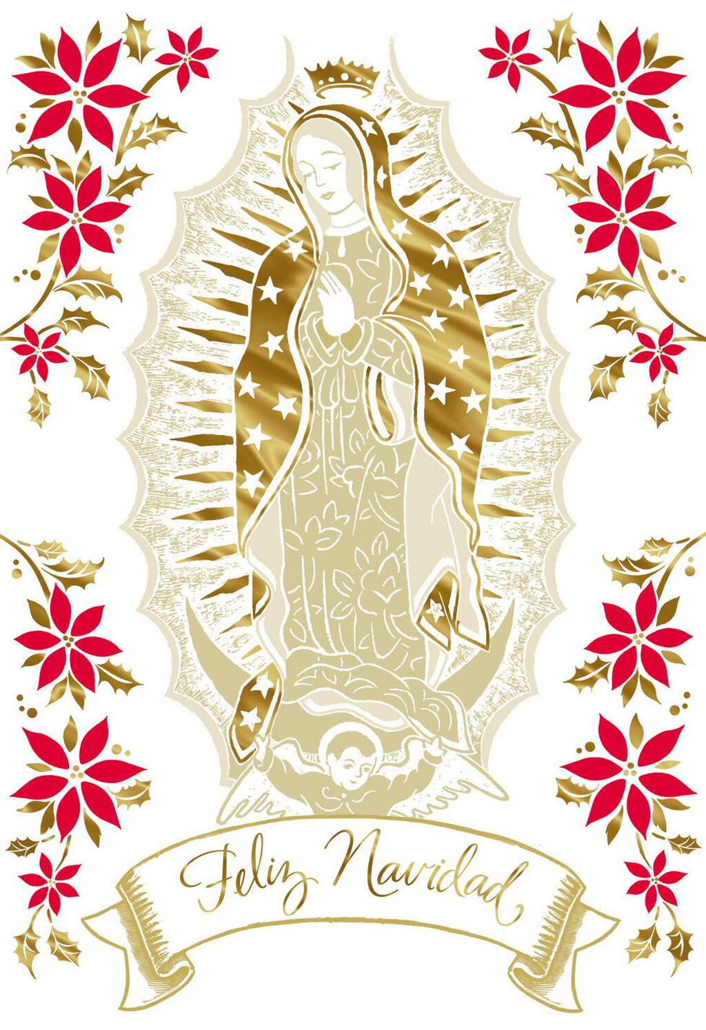 Our Lady of Guadalupe Spanish-Language Christmas Card - Greeting ...