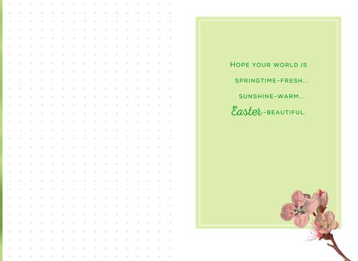 Springtime Daffodil Easter Card,