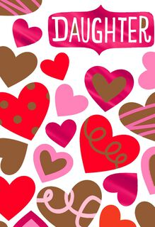 Chocolate Hearts Valentine's Day Card for Daughter,