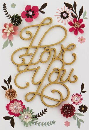 I Love You With All My Heart Birthday Card
