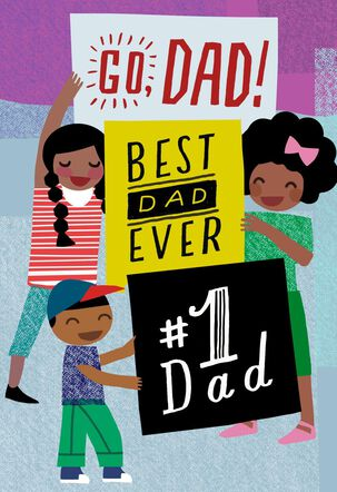 #1 Dad Father's Day Sound Card