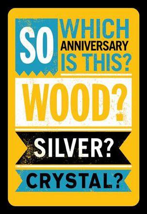 Which Milestone Funny Anniversary Card