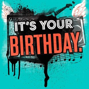 Party Like A Rock Star Musical Birthday Card