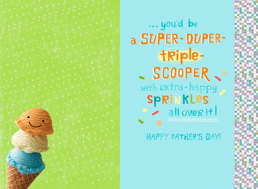 Triple-Scoop Ice Cream Cone Father's Day Card for Grandpa,
