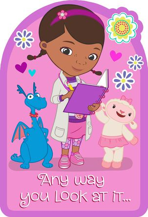 Doc McStuffins Super-Awesome Kid Birthday Card