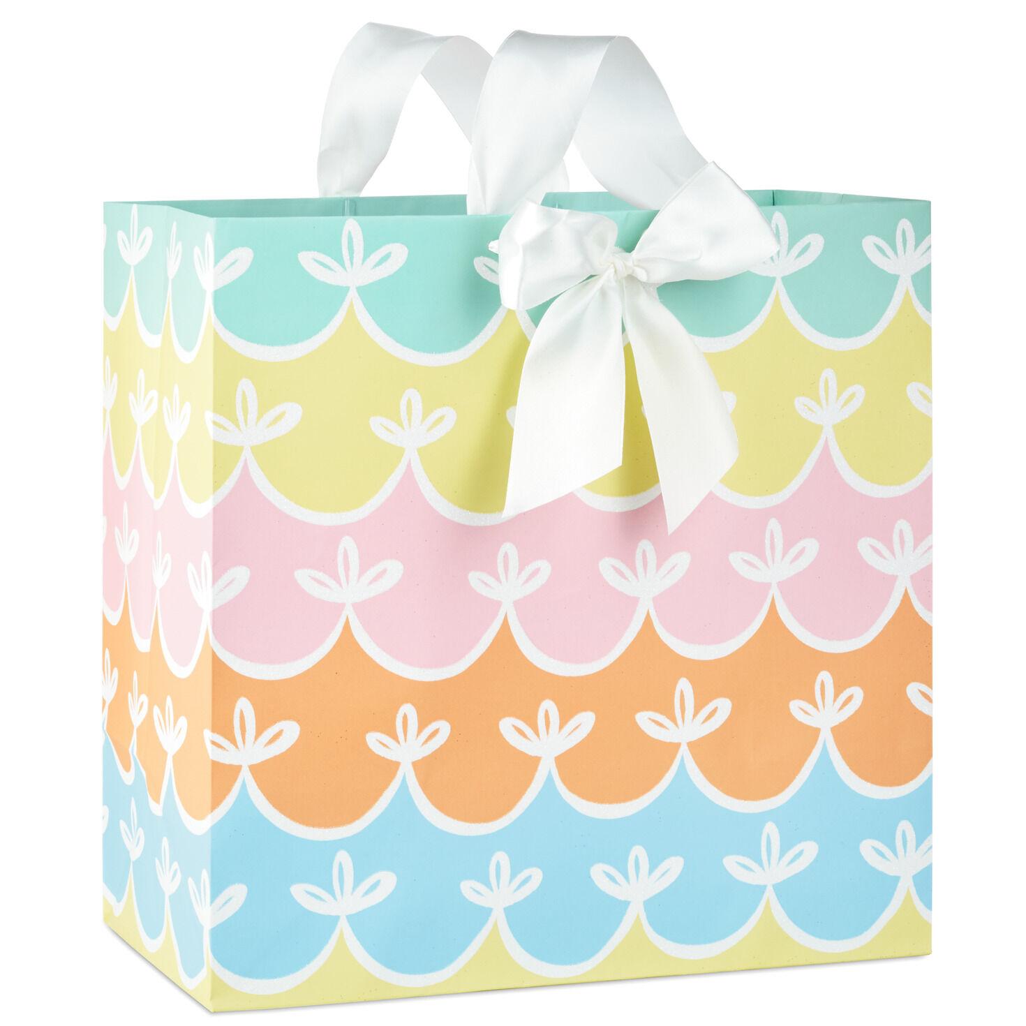Gray /& Turquoise Choice Of Style Wedding Gift Bags Jumbo Size