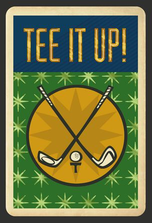 Tee It Up Father's Day Card