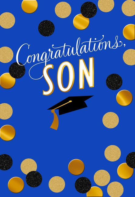 Gold dot graduation card for son greeting cards hallmark gold dot graduation card for son m4hsunfo