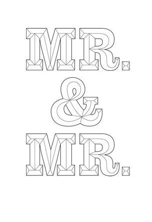 Mr. and Mr. Wedding Card
