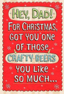 Crafty Beer for Dad Christmas Card,