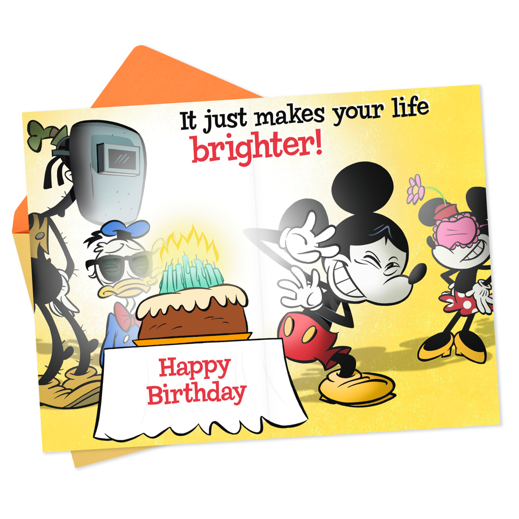 Disney Mickey Mouse And Gang Bright Birthday Card