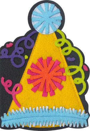 Party Hat Felt Musical Birthday Card