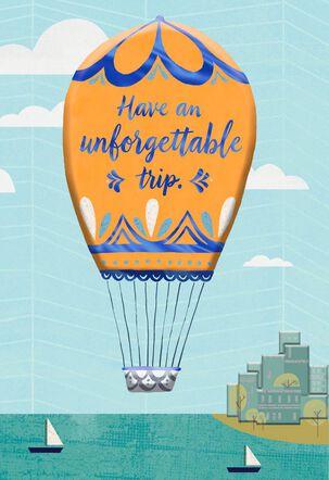 Hot Air Balloon Bon Voyage Card