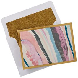 Pink Marbleized Blank Note Cards, Box of 8, , large