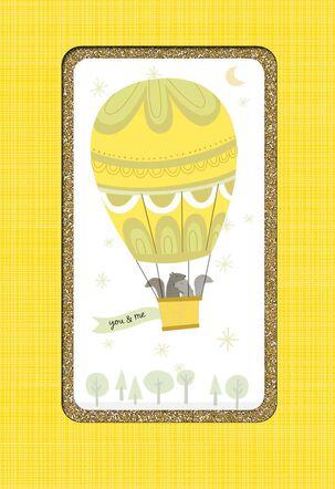 Hot Air Balloon Anniversary Card
