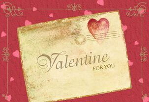 First Class Valentine Letter Valentine's Day Card