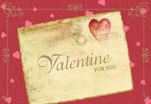 First Class Valentine Letter Valentine's Day Card