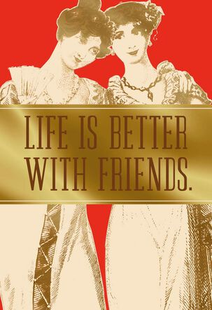 Friends and Wine Valentine's Day Card