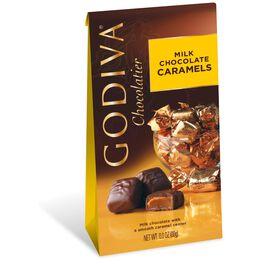 Godiva Chocolatier Individually Wrapped Milk Chocolate Caramels, , large