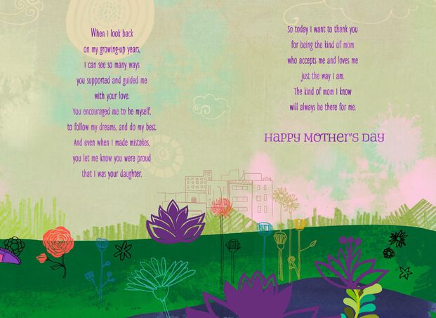 Thank You Mom Mother S Day Card From Daughter Greeting Cards
