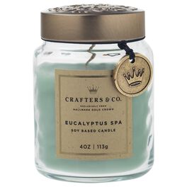 Crafters & Co. Eucalyptus Spa Candle, 4-oz, , large