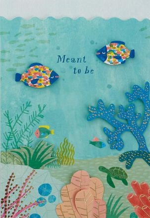 You & Me Meant to Be Under the Sea Anniversary Card