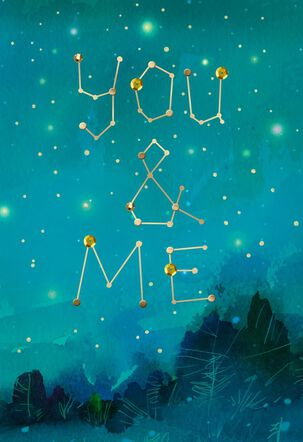You & Me Constellations Love Card