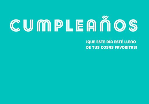 "Ice Cream Scoops Large Spanish-Language Birthday Card, 12"","